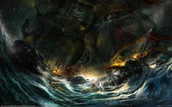 Wie is sterker  ... de zee of het schip