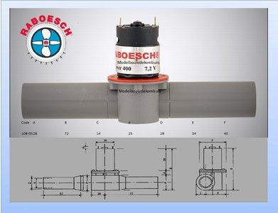 Boegschroef 25x28x154mm