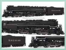 Blue DCC-ready Virginian Railways