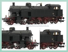 DC FS, Stoom locomotief Gr. 940 018 with electric headlamps