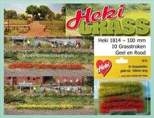 Grasstroken Geel - Rood
