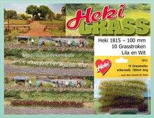 Grasstroken Lila - Wit