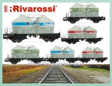 DR, 3-unit set silo wagons
