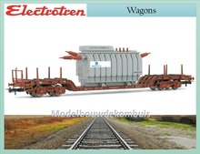 """RENFE, depressed centre flat wagon, loaded with transformer """"Iberdrola"""""""