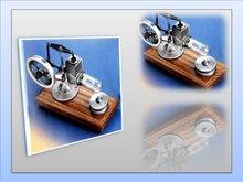 Stirlingmotor-Oud-Zilver