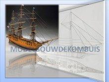 USS Constitution Tekening+Bouwbeschrijving
