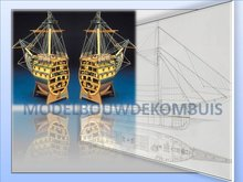 Prua H.M.S. Victory Tekening+Bouwbeschrijving
