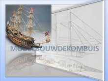 Sovereign of the Seas Tekening+Bouwbeschrijving